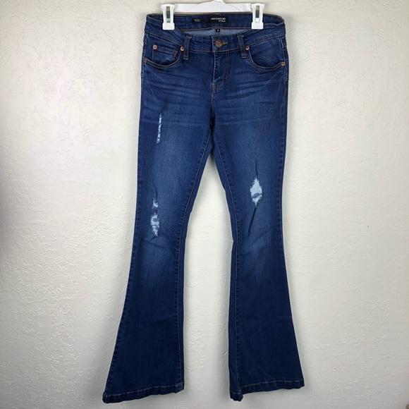 Underground Soul Denim - Underground Soul Skinny Boho Flare Jeans C61